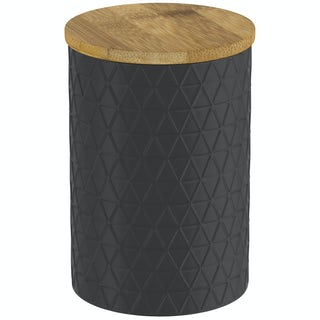 Contour black triangle storage jar