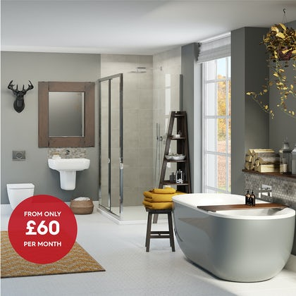 Mode Ellis storm complete bathroom suite with shower enclosure 1200 x 800