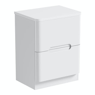 Mode Ellis white vanity drawer unit and countertop 600mm
