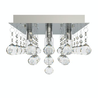 Ora square flush bathroom ceiling light
