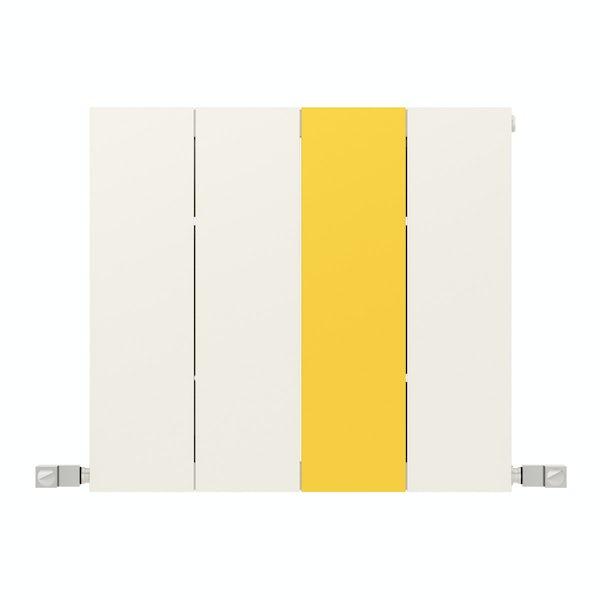 Neo soft white and zinc yellow horizontal radiator 545 x 600