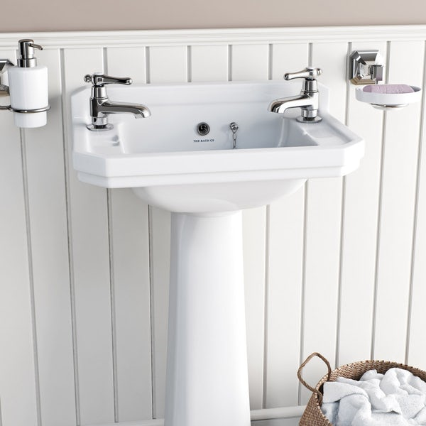 The Bath Co. Camberley lever bath pillar taps offer pack