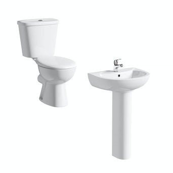 Simple Close Coupled Toilet and Basin Suite
