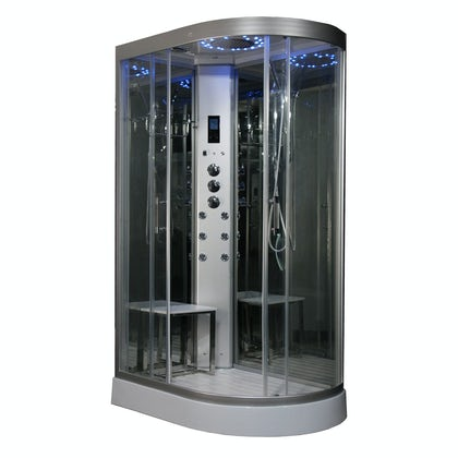 Insignia left handed offset quadrant steam shower cabin 1200 x 800