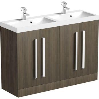Arden walnut double basin unit 1200mm