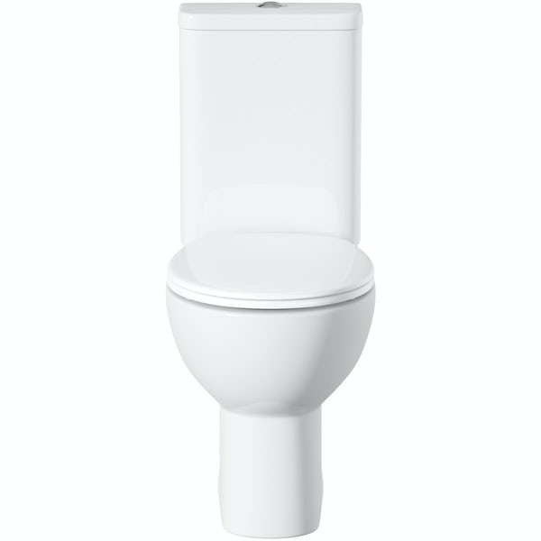 Orchard Elena close coupled toilet inc soft close seat and pan connector