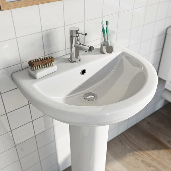 Eden 1 tap hole full pedestal basin