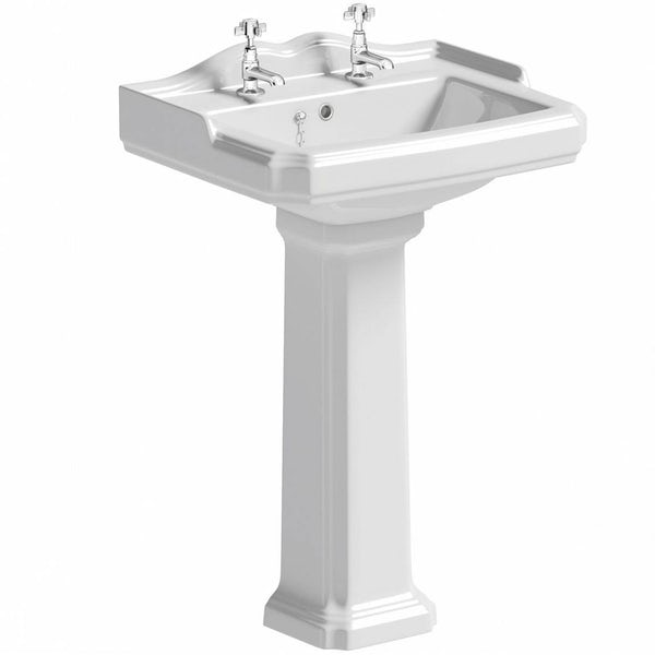 The Bath Co. Winchester complete roll top bath suite with taps, wastes and towels