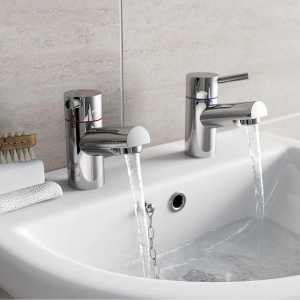 Matrix basin tap and bath shower mixer tap pack
