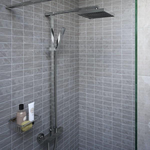 Bristan Quadrato thermostatic bar valve shower system