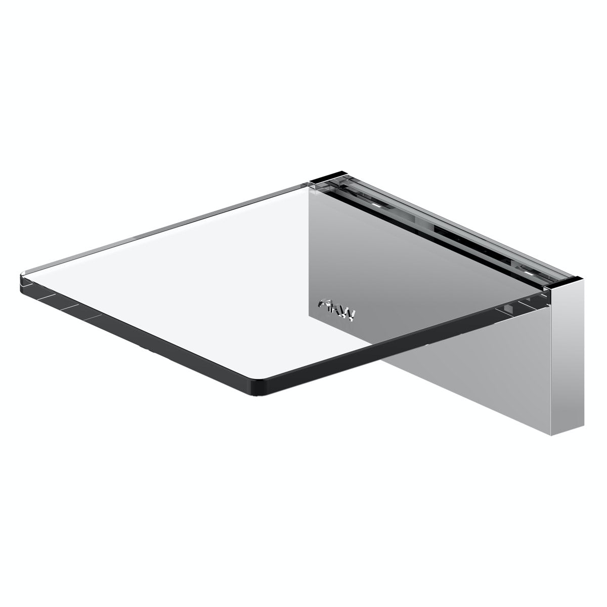 AKW Onyx small shelf chrome
