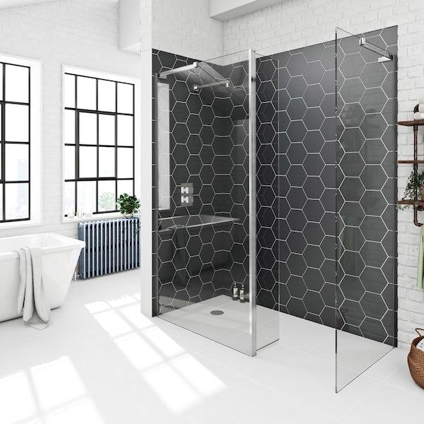 Mode Tate dark domain wet room suite 1600 x 800 complete room