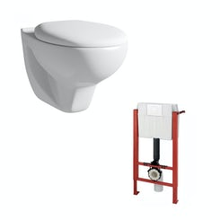 Elena wall hung toilet and wall mounting frame