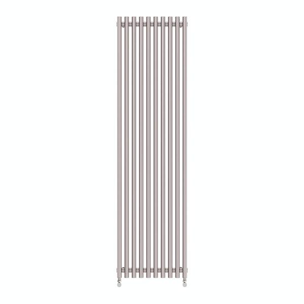 Tune matt nickel single vertical radiator 1800 x 490