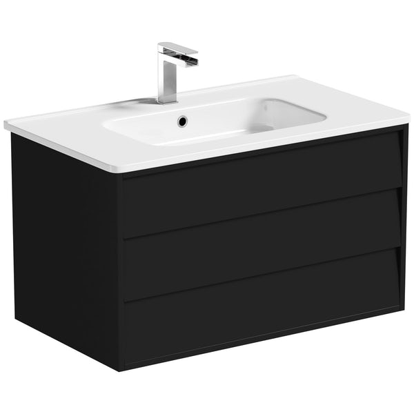 Mode Cooper anthracite vanity unit 800mm and mirror offer