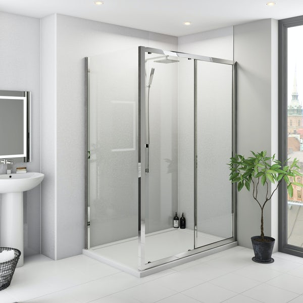 Multipanel Classic Frost White Hydrolock shower panel 598