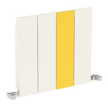 Terma Neo soft white and zinc yellow horizontal radiator 545 x 600