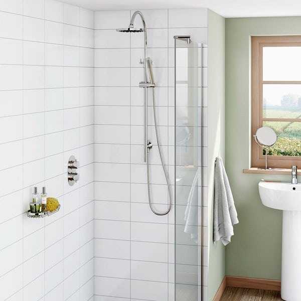 Mode Harrison complete bathroom suite with freestanding bath and enclosure