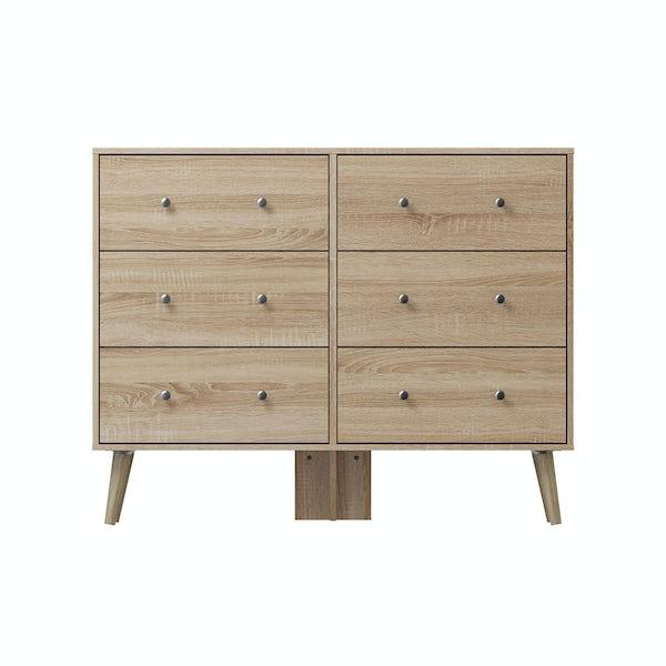Helsinki Oak 6 drawer chest