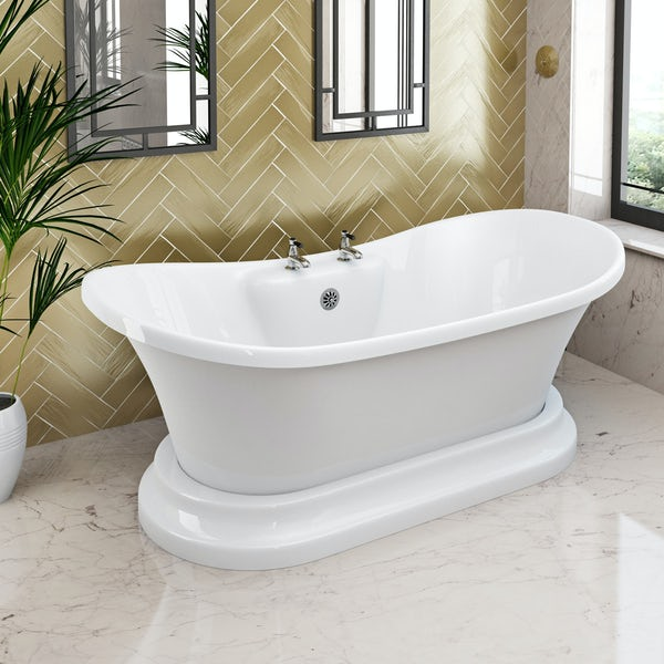 The Bath Co. Beaumont traditional freestanding bath 1730 x 865