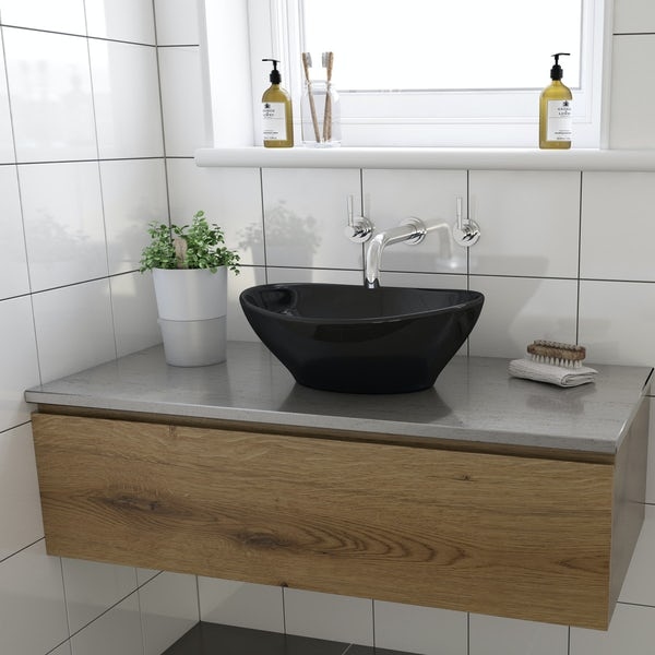 Dal countertop basin with waste