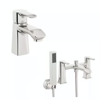 Wave basin and bath shower mixer tap pack