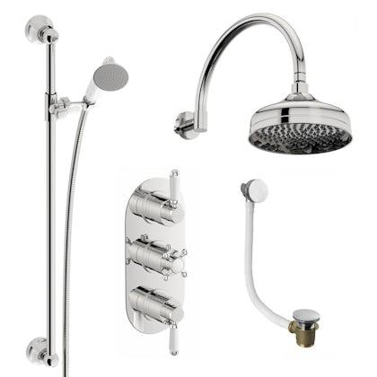Coniston Complete Thermostatic Shower Bath Set