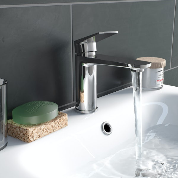 Kirke Combo basin mixer tap with click clack waste