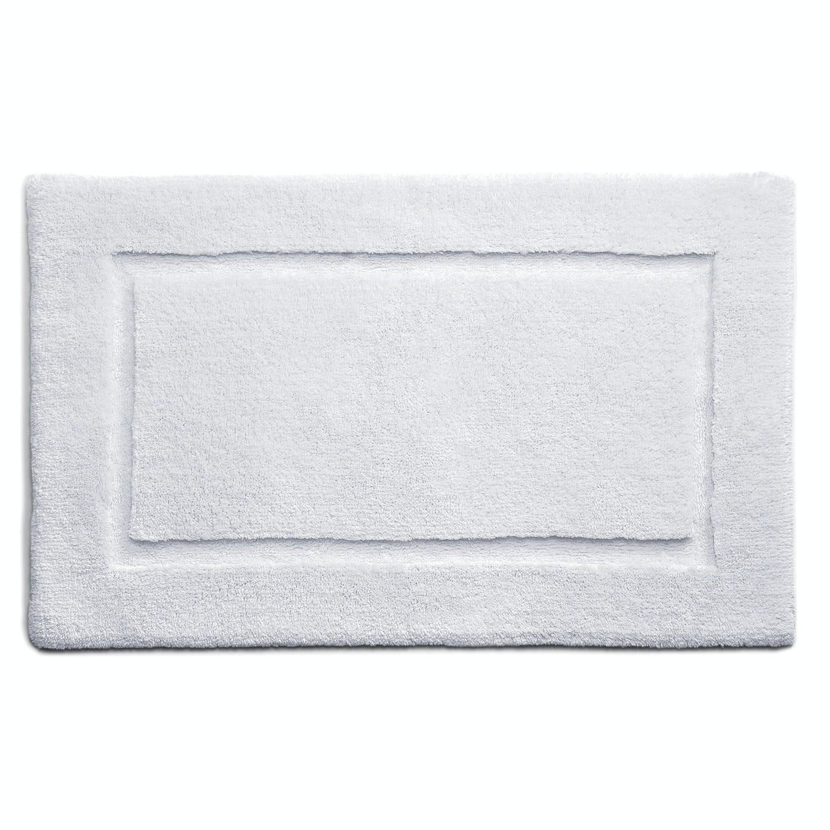 Hug Rug luxury bamboo border white bathroom mat 50 x 80cm