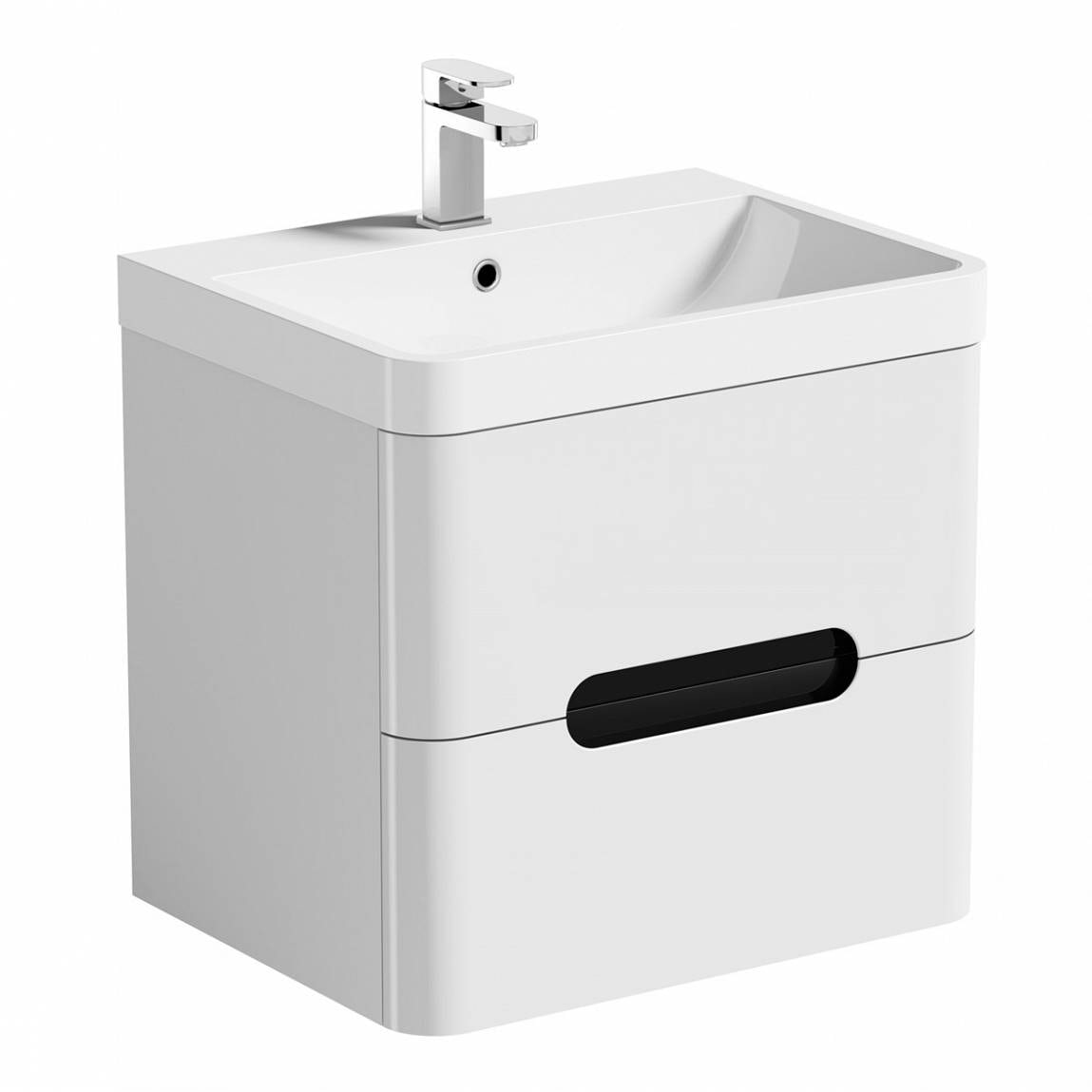 Mode Ellis essen wall hung vanity drawer unit and basin 600mm