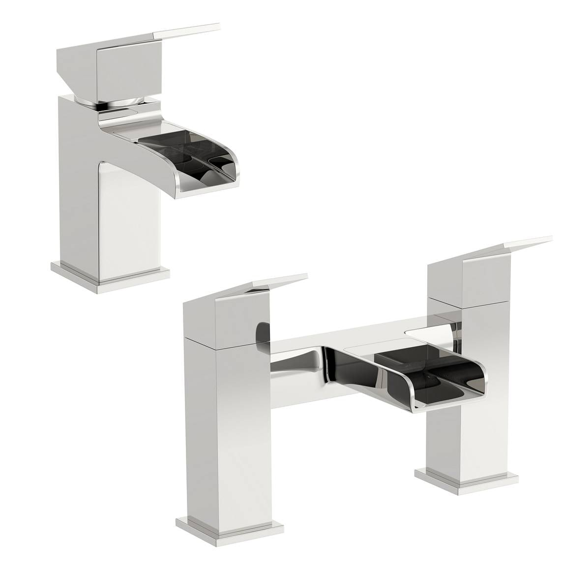 Escala Basin and Bath Mixer Pack