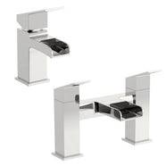 Orchard Wye waterfall basin and bath mixer tap pack