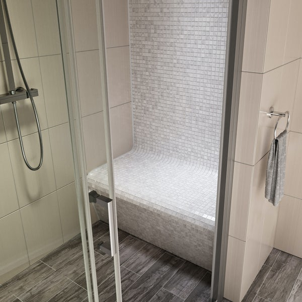 Orchard ready to tile shower seat 1000mm