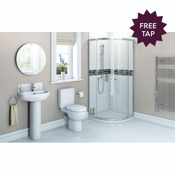 Energy Bathroom set with Quadrant Enclosure 800, Tray