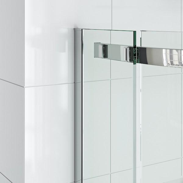 Elite 10mm single sliding door quadrant shower enclosure 900 x 900
