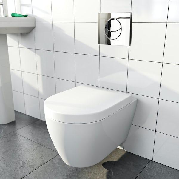 Opal wall hung toilet inc soft close seat