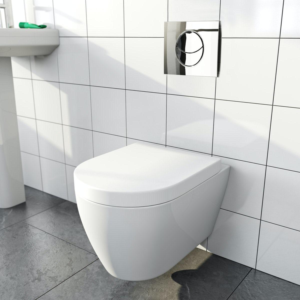 opal wall hung toilet inc soft close seat - Wall Hung Toilet