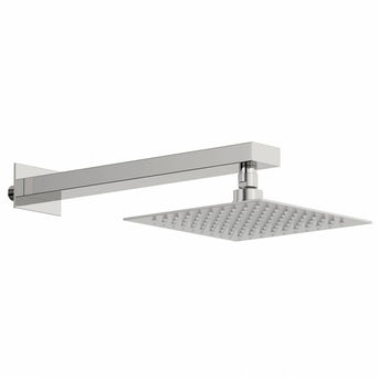 Incus 200mm Shower Head & Rectangular Wall Arm