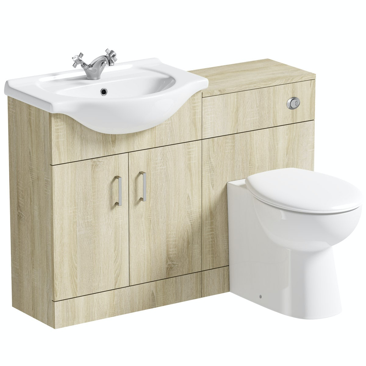 Orchard Eden oak 1140 combination with Clarity back to wall toilet