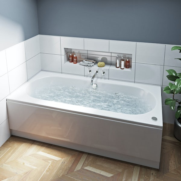 Mode Islington double end 6 Jet whirlpool bath 1800 x 800