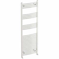 Curved heated towel rail 1650 x 600