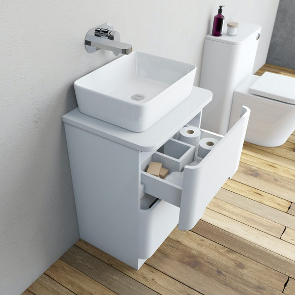 Mode Ellis essen vanity drawer unit and countertop 600mm