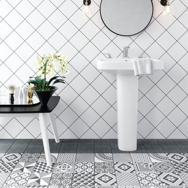 Ted Baker VersaTile white wall and floor tile 148mm x 148mm