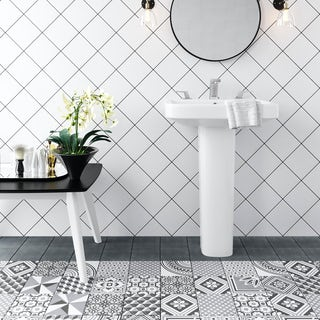 Ted Baker VersaTile white wall and floor tile 148mm x 148mm