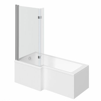 Boston Shower Bath 1500 x 850 LH with 8mm Hinged Screen