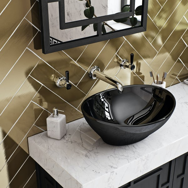 The Bath Co. Beaumont lever wall mounted basin mixer tap