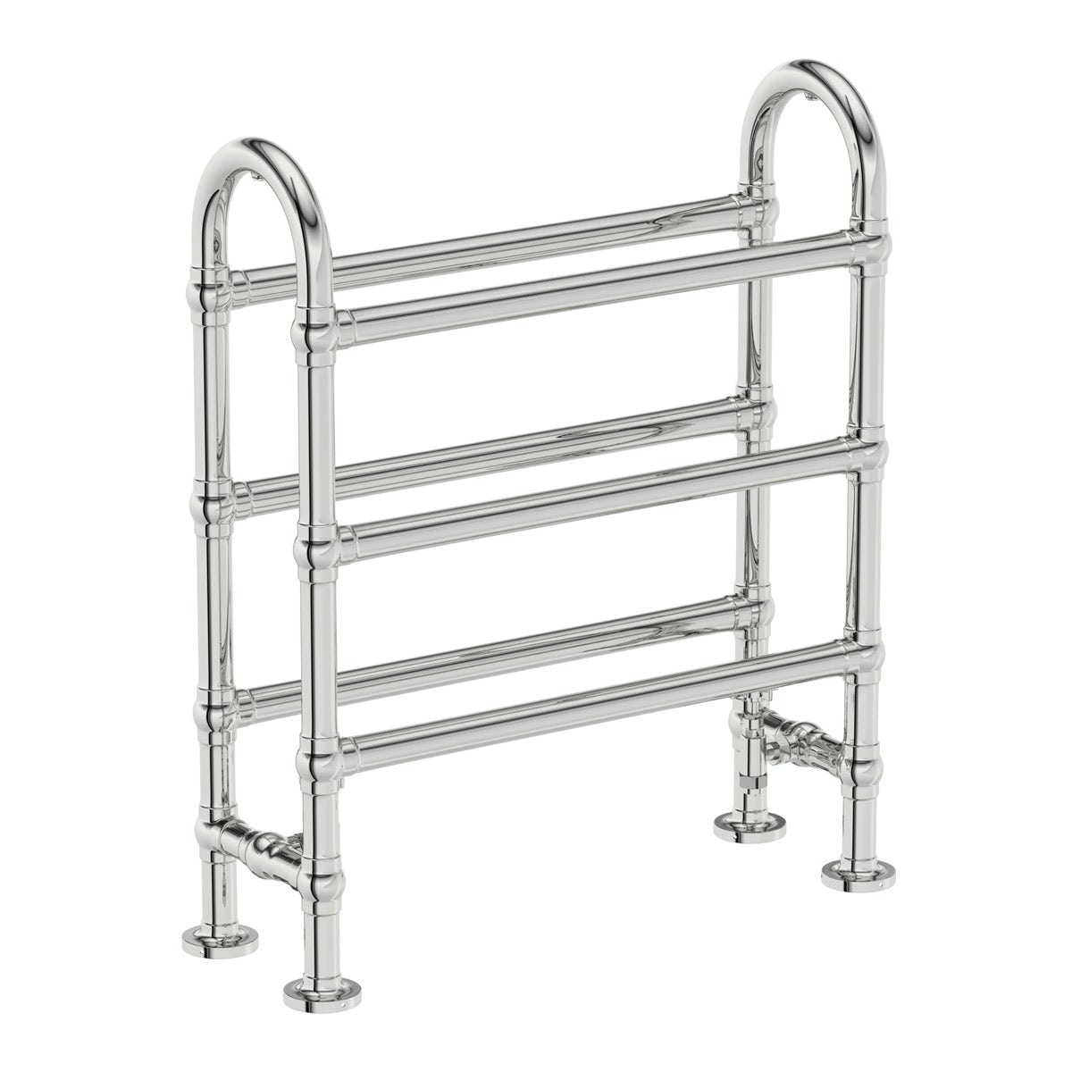 The Bath Co. Camberley traditional heated towel rail 778 x 686 offer pack