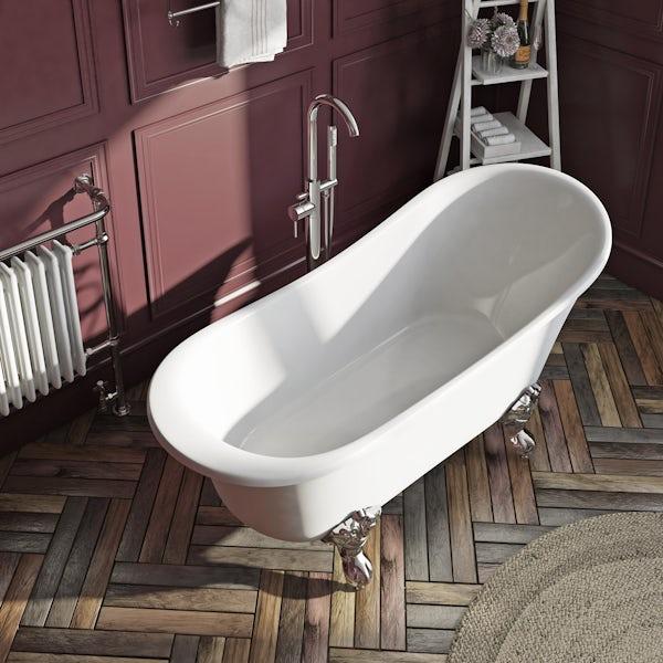 The Bath Co. Camberley freestanding slipper bath with ball feet