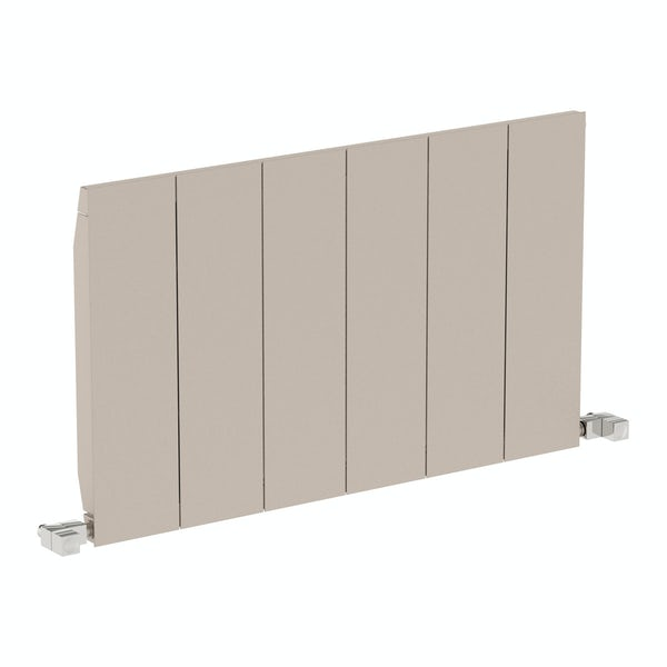 Neo oyster grey horizontal radiator 545 x 900