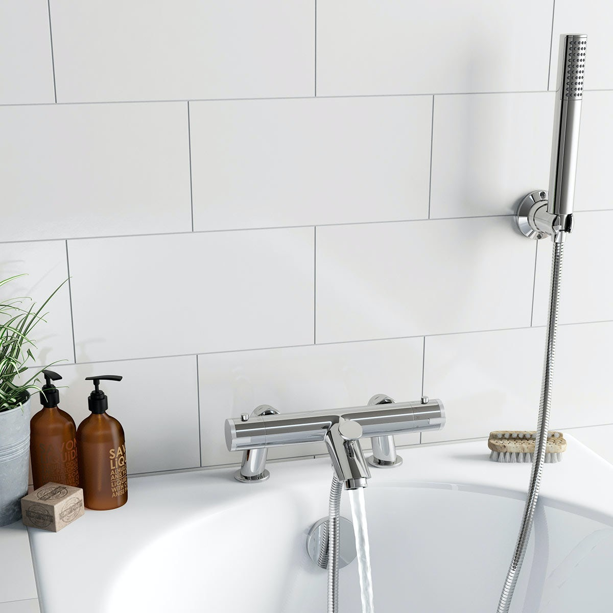 Thermostatic Bath Shower Mixer Wall Or Surface Mount